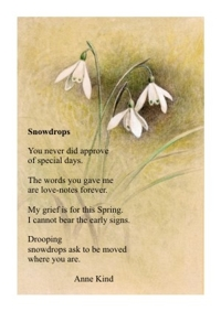 Snowdrops poem card