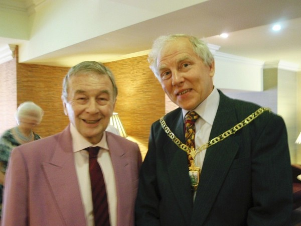 Alan Brownjohn and Deputy Mayor Mr Reg Adams